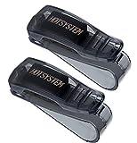 HOTSYSTEM 2 x Auto Brillenhalterung Sonnenbrillenhalterung für Sonnenblende im Auto PKW LKW KFZ Brillenablage