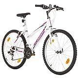 Multibrand, PROBIKE 6th SENSE, 460mm, 26 Zoll, Mountainbike, 18 gang, Shimano, Für Damen, Weiß-Pink