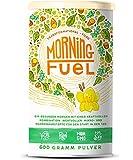 Morning Fuel - Frühstücksmischung mit Mikro- & Makronährstoffen - Quinoa, Chia, MCT Öl, Erbsenprotein, Hafer, Algen, Alfalfa, Spinat, Maca + Vitamine B6 und B12 - 600g Pulver mit Vanille