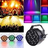 Leiyini LED Bühnenbeleuchtung 12 LED DJ Par Lichter RGB DMX-512 Bühnenbeleuchtung für Home Hochzeit Kirche Konzert Bühne Beleuchtung