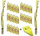 Fliegenfänger Rollen, Insektenfänger,Fliegenfalle, Umweltfreundlich,giftfrei - Made in Germany + 1 Makalu Gelbsticker (20 Rollen + 1 Gelbsticker)