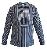 MADSea Fischerhemd Herren Damen klassisch gestreift Finkenwerder Stil, Größe:XL
