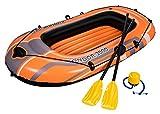 Bestway 61062B Hydro-Force Raft Set Boot 188 x 98 cm mit Blasebalg und 2 Rudern