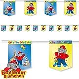 3,5m Wimpelkette * BENJAMIN BLÜMCHEN * als Deko für Kinderparty und Kindergeburtstag von DH-Konzept // Töröööö // Elefant Kinder DGirlande Banner Partykette Party Set