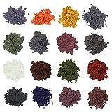Kerzenfarbe – Kerzenwachs Dye – Kerzenherstellung Dye Flocken für Paraffin/Sojawachs – Wachsfarbe für Kerzen zum einfärben, Set 16 helle Farben(16bags/4,25 g)