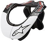 Alpinestars BNS Pro Neck Brace, Schwarz/Weiß/Rot L schwarz/weiß/rot