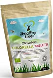 Bio Chlorella-Tabletten - Reich an Chlorophyll, Protein, Eisen und Aminosäuren - Gebrochene Zellwand Chlorella-Tabletten mit britischem Bio-Siegel von TheHealthyTree Company