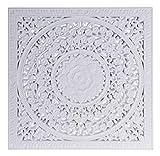 Meinposten. Wandornament Holz weiß 40 x 40 cm Shabby Landhaus Ornament Holzornament Holzbild