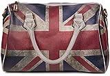 styleBREAKER Union Jack Handtasche im Großbritannien Vintage Design, Bowling Tasche, Henkeltasche, Damen 02012015, Farbe:Grau / Modell-4