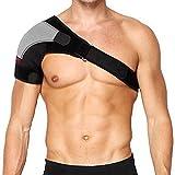 MAIBU Verstellbare Schulterstütze Lightweight Gym Sport-Therapie Neopren Schulterstütze Strap Wrap für Männer und Frauen (Recht)