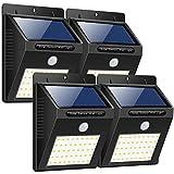 Trswyop Solarleuchte Außen, [ 4 Stück] 40 LED Solarlampen mit Bewegungsmelder Wasserdicht Solarlicht Superhelles Sicherheitswandleuchte Hitzebeständig Solarbetriebene Beleuchtung für Garten Balkon