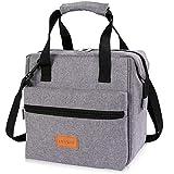 Lifewit 10L Kühltasche Lunchtasche Isoliert Lunch Bag für Erwachsene Männer Frauen, 3-Wege Tragbare Thermotasche für Büro/Schule/Picknick,Grau