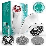 VOYOR Massagegerät Cellulite Elektrisch Handmassagegeräte Mini Cellulite Massage Gerät Kabellos für Gesicht Nacken Schulter Rücken Füße Fußbad mit Gesichtsreinigungsbürste VRMM1-NEW
