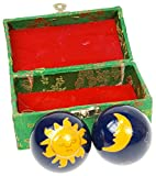 Le Tortue de Jade Qi-Gong-Kugeln Sonne und Mond, Blau