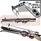 Ski halter wandhalterung (100% Stahl) (schwarz)
