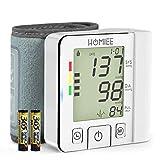Blutdruckmessgerät, HOMIEE Digitales Handgelenk Blutdruckmessgerät, Vollautomatischer messen Blutdruck mit Memory Funktion für Den Heimgebrauch, 2 * 120 Speicher