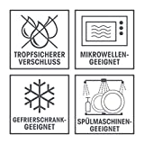 GOURMETmaxx 02003 Klick-It Frischhaltedosen | 72-teiliges BPA freies Aufbewahrungsdosen-Set (36 Dosen und 36 Deckel) | für Gefrierschrank, Mikrowelle, Spülmaschine | Lila/Pink/Türkis