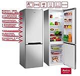 Amica Kühl-Gefrierkombination Edelstahloptik 268L A++ 172cm hoch automat. Abtauen KGCL 387 115 E