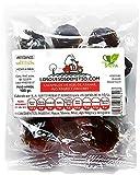 Bonbons mit Ingwer, Orangenblütenhonig und Schwarzem Knoblauch (natürlich, ohne zugesetzten Zucker, köstlich, 3x100g Tüte, Herkunftsland Spanien, insgesamt 300g)
