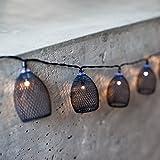 20er LED Metall Laternen Lichterkette Brooklyn batteriebetrieben Timer Lights4fun