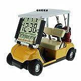 crestgolf Mini Golf Cart Alarm Uhr, Miniatur Golf Buggy Gelb gelb