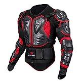 Amphia - Motorrad-Ganzkörperpanzerjacke Motocross Racing Spine Brustschutzmantel - Schwarze Motorrad-Rüstung für Männer und Frauen, bruchsichere Sport-Rüstungs-Kleidung WOSAWE