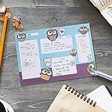 Adler Planungsblock, To-Do-Listen-Notizblock, Chcklist, Planer, Organizer, 30 x 21 cm, 50 Blatt für tägliche Aufgaben, Notizen, Ziele