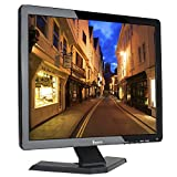 Eyoyo 17' Zoll Monitor 1280x1024 TFT LCD CCTV HDMI HD Monitor Farbdisplay Bildschirm mit BNC / VGA / AV / HDMI / USB Kopfhörerausgang, eingebauter Lautsprecher (17 zoll)