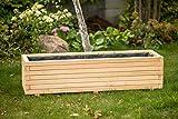 Larisa Blumentopf, Blumenkasten, Pflanzkasten auf Holz ! HIT 40 bis 120 cm !!! (120x40x30,5)