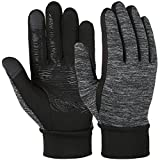 Vbiger Herren Touchscreen Fahrhandschuhe SMS Handschuhe für Frühling Herbst Winter, Gr.-S, Schwarz-1