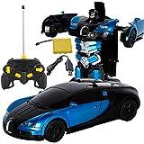 Transformator Roboter-Auto Modell, 1:12 Kinder Spielzeug Bugatti Transformers Roboter RC Auto Fahrzeuge Elektroauto Modell Mit Fernbedienung Geschenk Für Jungen
