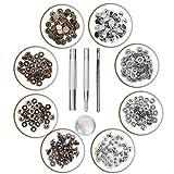 Schnappverschluss Werkzeuge Set von Kurtzy - 80 Silber und Bronze Druckknopf Befestigungswerkzeuge - Metallbefestigung und Reparaturwerkzeuge für Leder und Mehr - Schnelle Freigabe Schnelle Nieten Ideal zum Nähen von Schnappknöpfen auf Kleidung