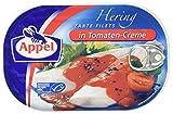 Appel Heringsfilets, zarte Fisch-Filets in Tomaten-Creme, MSC zertifiziert, 10er Pack (10 x 200g Dose)