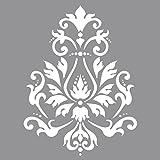 Rayher Hobby 38901000 Schablone Brokatmotiv, 30,5 x 30,5 cm, Polyester, SB-Btl 1 Stück