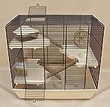 Nagerkäfig,Hamsterkäfig,Käfig, Teddy Gigant II 'Vollausstattung' beige