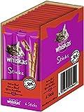 Whiskas Sticks Katzensnack Reich an Rind, 14 Packungen (14 x 36 g)