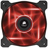 Corsair AF120 LED Quiet Edition High Airflow LED PC-Gehäuselüfter (120mm, Single Pack) rot