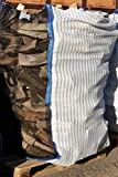 5 x Hochwertiger Holz Big Bag mit Auslaufboden/Sternenboden speziell für Brennholz * Holzbag, Woodbag * 100x100x120cm * Netzgittergewebe * Holz trocknen + transportieren