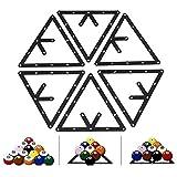 VGEBY 6 Billard-Dreieck-Bälle, Ballhalter, Positionierung Billardtisch, Poolqueue-Zubehör