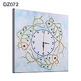 RIsxffp Dekorative Malerei 35 x 35 cm Wanduhr mit Mehreren Formen von Diamanten, zum Basteln, Heimdekoration DZ072
