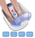 Fußmassagegerät | Fußsprudelbad | Fussmassagegerät | Fussmassage | Fusssprudelbad | Massagegerät mit Infrarot Wärme | Fussreflexzonen Massage (mit Fussreflezonen Massage) | Whirlpooleffekt | 4 Massagerollen | Beheizte Fußauflage | 3 Stufen | (Ohne Fussreflezonen Massage)