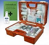 Erste-Hilfe-Koffer M1 für Betriebe DIN 13157 EN 13157 incl. Verbandbuch & Hände-Antisept-Spray
