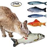 Catnip Toys Fish Catnip Cat Toys Simulation Plush Fish Shape Doll Interactive Pets Pillow Chew Bite Kick Supplies for Cat Kitten Kitty