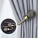 Dekorativer Raffhalter für Gardinen, 2er-Pack, Metall Vorhänge Halter Gardinenhalter Raffbügel MEHRWEG