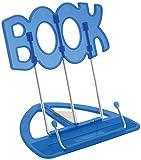 Wedo 21119903 Leseständer Book (aus Kunststoff, stufenlos verstellbar, vernickelte Bügel) blau