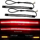 EverBrightt 2er-Pack rot gelb 3528 3014 48SMD LED Motorrad Lichtleiste für Rücklicht Bremslicht Blinker Lampe DC 12V