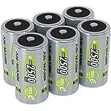 ANSMANN Akku Batterien Baby C 2500mAh 1,2V - Aufladbare Batterien C NiMH mit maxE & ohne Memory Effekt - Baby C Akkus ideal für Spielzeug Taschenlampe Radio Werkzeug Lampe Modellbau uvm - 6 Stück