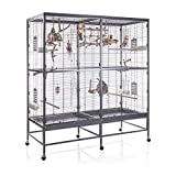 Montana Cages Vogelvoliere Paradiso 150 | Antik-Platinum | Voliere für Wellensittiche, Nymphensittiche & Co.