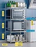 Shelf Multifunktions-Küchenmöbel-Rack , Stehendes Edelstahl-Ablagegestell, Küche mit Eckregal/Mikrowellen-Rack,Breite-36 cm