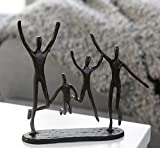 Casablanca - 74572 Design Skulptur Jumping Gußeisen brüniert 22 cm Familie Freude Figur Deko